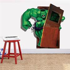 2017 New 3D Art Hulk Green Giant Avengers Removable PVC Wall Sticker Decor Decal