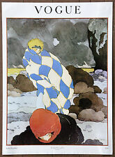 Vogue Winter Wind Art Deco Cover Vintage LePage Original Conde Nast Publication