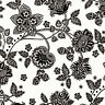 Cotton 100% Covering Curtain Upholstery Fabric Novelty Floral Black White 44'W