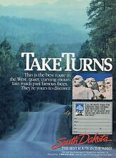 1985 South Dakota The Best Route in the West Mount Rushmore Tourism Print Ad