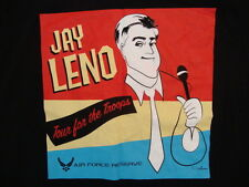 Jay Leno Tour For The Troops Late Night TV Show Comedian Graphic Print T Shirt L