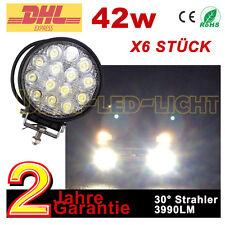 6x42W LED Zusatzscheinwerfer 12v Traktor Mähdrescher Boot Auto SUV Scheinwerfer