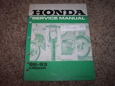 1992 1993 Honda CR500R Motorcycle Dirt Bike Original Service Repair Shop Manual
