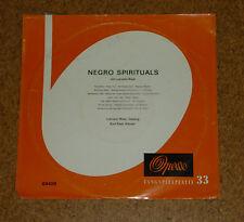 """LP Vinyl Record 10"""" Negro Spirituals Kurt Rapf Piano Lukretia West  Opera 63408"""