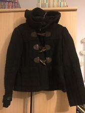 Womens Abercrombie Navy Duffle Coat Size S