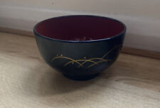 Melamine Miso japanese soup bowl black lacquered diameter 11cm height 6.5cm