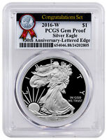 2016-W American Proof Silver Eagle Congratulations PCGS GEM Proof 30th SKU50222