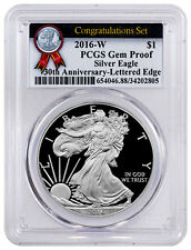 2016-W American Proof Silver Eagle Congratulations Pcgs Gem Proof 30th Sku50222