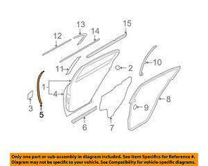 Infiniti NISSAN OEM 09-13 G37 Rear Door-Front Seal Right 82838JK010