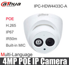 Dahua 4MP Dome IP Camera IPC-HDW4433C-A  POE 2.8mm Lens IR 30m Network Camera