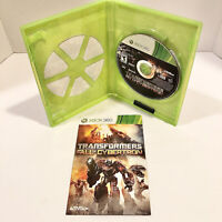 Transformers: Fall of Cybertron (Microsoft Xbox 360) Complete With Manual