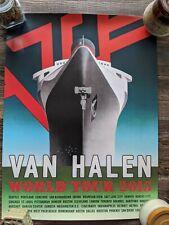 Van Halen 18x24 2015 tour concert poster - Us cities - great quality
