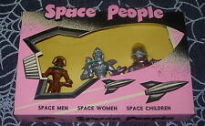 ARCHER  SPACE PEOPLE  NO. 129  BOXED  1950'S  ROCKET BOX  ORIGINAL AND VINTAGE