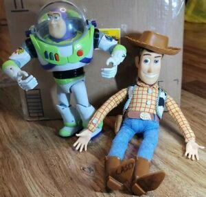 1995 Disney Thinkway Toy Story Woody Doll & Buzz Lightyear BOTH TALK