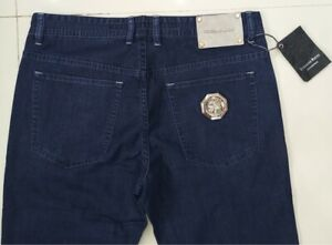 Stefano ricci summer blue luxury Italian jeans with a touch of cast logo