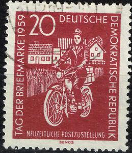 Germany DDR Motorcycle Postman stamp 1959