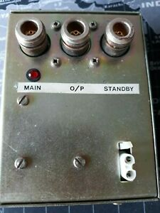 Coaxial changeover relay