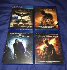 Batman Arkham Batman Begins The Dark Knight Rises PS4 Blu-Ray Trilogy Bundle NEW