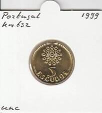 Portugal 5 escudos 1999 UNC - KM632 (ma196)