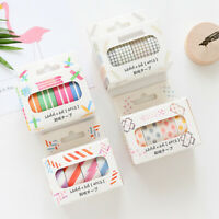4 Rolls Stripe Dot Washi Tape Sticker Paper Scrapbooking Planner Craft DIY Decor