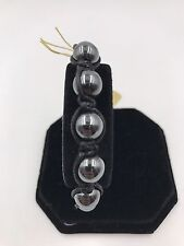 """Shamballa Beaded  Adjustable Bracelet Hematite  7"""" - 8.5"""" inches Long"""