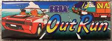 Out Run Arcade Game Marquee Fridge Magnet