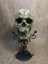 Vlad the Impaler Dracula Skull Carved on a real human skull replica by Mike Lee