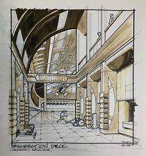 "Babylon 5 Recreation Deck Crusade's Excalibur Print Drawing 11"" x 17"""