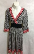 Womens AGB  Multi-Color Mid Length  Mid  Length Sleeve Dress Size 8 USA