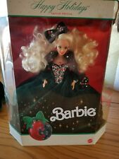 """1991 BARBIE """"A HOLIDAY TREASURE IN VELVET & JEWELS"""" SPECIAL EDITION NIB GORGEOUS"""
