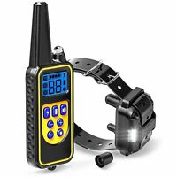 2600FT Remote Dog Shock Vibration Training Collar Rechargeable LCD Pet Trainer