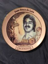Juan Ponce de Leon Age of Discovery Porcelain Plate (Limited To 25 Firing Days)