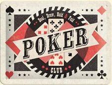 Blechschild Poker Club,Nostalgie Schild 20x15 cm,Sheet Sign,New