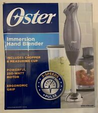 Oster 2 Speed Immersion Hand Blender w/ Food Chopper Attachment - Metallic Gray