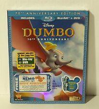 Dumbo (Blu-ray/DVD, 2011, 2-Disc Set, 70th Anniversary Edition) NEW w SLIPCOVER