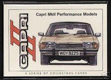 FORD CAPRI MK II 1974-78 ORIGINALE CARTOLINE DA COLLEZIONE - 3000GT GHIA JPS