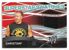 Christian 2011 Topps Superstar Swatches WWE Shirt Relic Event Used