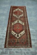Antique Primitive Caucasian rug / hand knotted rug 100% wool tribal rug runner