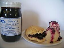 Jams & Jellies Black Raspberry Seedless Jam Home Made in Amish Country 18 oz.