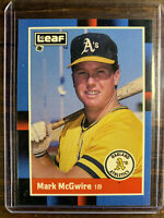 1988 Leaf Baseball Mark McGwire Card #194 Oakland Athletics A's MLB HOF NM-MT