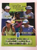 **WTA TENNIS PROGRAMME 2001 - SERENA - KOURNIKOVA - HINGIS - DAVENPORT - SELES**