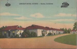 Postcard Lincoln Hotel Courts Ruston Louisiana LA