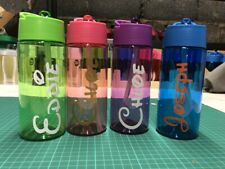 Personalised Disney Style Kids Water Bottle 400ml School Nursery Holiday Party