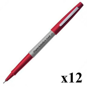 PaperMate Flair Ultra Fine Felt Tip Pen Red S0901341 Pack of 12