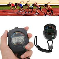 Digital Handheld Sport Fitness Stoppuhr Timer Alarm F1O8 W5L0 B9 Zähler Ges W2P3