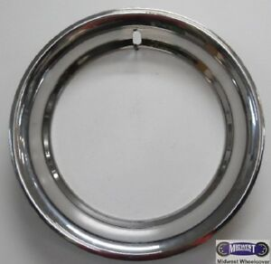 "16""x3"" RARE RANDALL TEXTRON TRIM RING, NEW (OLD DISPLAY MODEL), CHROME, 78071-H"