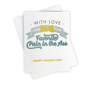 Funny Adult Handmade Happy Father's Day Card from the Favorite Child