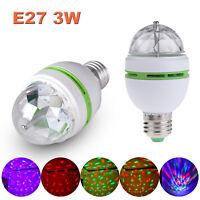 E27 RGB LED Glühbirne Lichteffekt Party Disco Licht Glühlampe Diskolampe 3W
