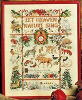 🎄 Christmas NATURE MOTIF Sampler Animals Birds Cross Stitch Chart Donna Kooler