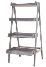 "68"" Antique Mahogany Restoration Industrial Farmhouse Hardware Ladder Shelves"